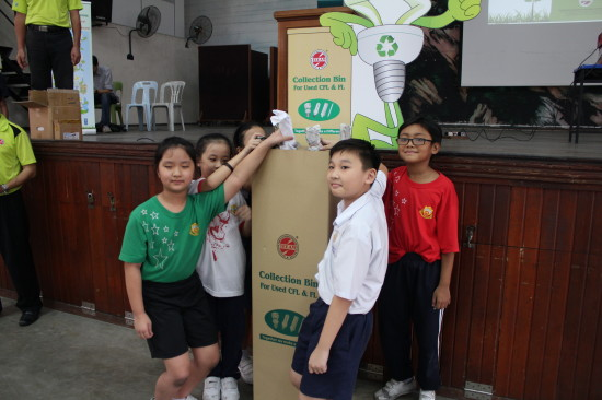 Educating School Children to Recycle Used Lamps